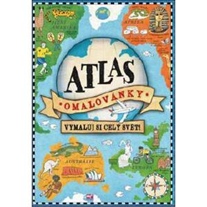 Atlas - omalovánky: Vymaluj si celý svět! | Natalie Hughesová